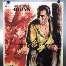Cine: EL RETORNO DEL FORAJIDO - ANTHONY QUINN, WILLIAM CONRAD, LITA MILAN - ILUST. SOLIGO - AÑO 1962. Lote 120398647