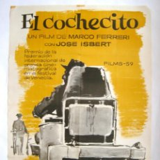 Cine: POSTER ORIGINAL ESPAÑA / 1960 / EL COCHECITO / MARCO FERRERI / JOSÉ ISBERT / JOSÉ LOPEZ VAZQUEZ /MAC. Lote 118144091