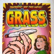 Cine: POSTER ORIGINAL USA / GRASS / MARIHUANA /1999 / RON MANN / WOODY HARRELSON / 69 X 102 CM. Lote 118261379