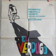 Cine: EL VERDUGO CON FIRMAS DE BERLANGA Y DEL AUTOR DEL POSTER MAC. Lote 118285887