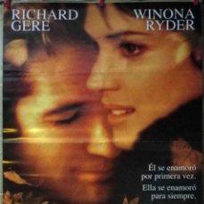 Cine: ORIGINALES DE CINE: OTOÑO EN NUEVA YORK (RICHARD GERE, WINONA RYDER) - 70X100. Lote 118313707