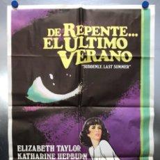 Cine: DE REPENTE EL ULTIMO VERANO - ELIZABETH TAYLOR, KATHARINE HEPBURN, MONTGOMERY CLIFT. Lote 118319443
