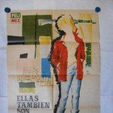 Cine: ELLOS TAMBIEN SON REBELDES - CARTEL ORIGINAL 70 X 100. Lote 118354835
