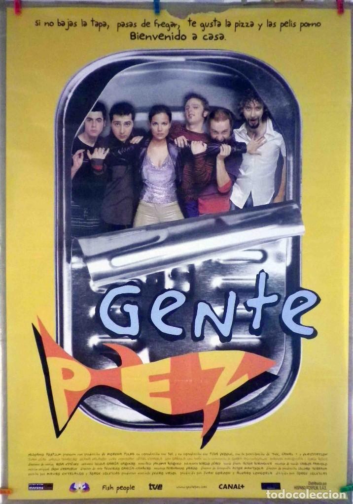 ORIGINALES DE CINE: GENTE PEZ (JUAN DÍAZ, DAVID TENREIRO, DIANA PALAZÓN) - 70X100 (Cine - Posters y Carteles - Comedia)