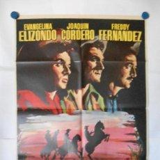Cine: LOS TRES VILLALOBOS - CARTEL ORIGINAL 70 X 100. Lote 118355599