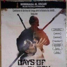 Cine: ORIGINALES DE CINE: DAYS OF GLORY - DÍAS DE GLORIA (INDIGÈNES) - RACHID BOUCHAREB, 2006 - 70X100. Lote 118363455
