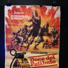 Cine: ORIGINAL POSTER CARTEL DE CINE DOCE DEL PATIBULO 70 X 100. Lote 118771155