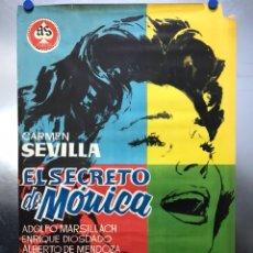 Cine: EL SECRETO DE MONICA - CARMEN SEVILLA, ADOLFO MARSILLACH, ENRIQUE DIOSDADO - AÑO 1961. Lote 118812968