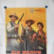 Cine: RIO BRAVO - CARTEL ORIGINAL 70 X 100. Lote 118821595