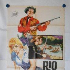 Cine: RIO MALDITO - CARTEL ORIGINAL 70 X 100. Lote 118823243