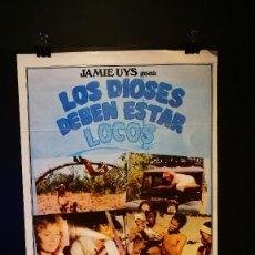 Cine: ORIGINAL POSTER CARTEL DE CINE LOS DIOSES DEBEN ESTAR LOCOS 70 X 100. Lote 118880027