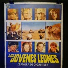 Cine: ORIGINAL POSTER CARTEL DE CINE LOS JOVENES LEONES 70 X 100. Lote 119068047