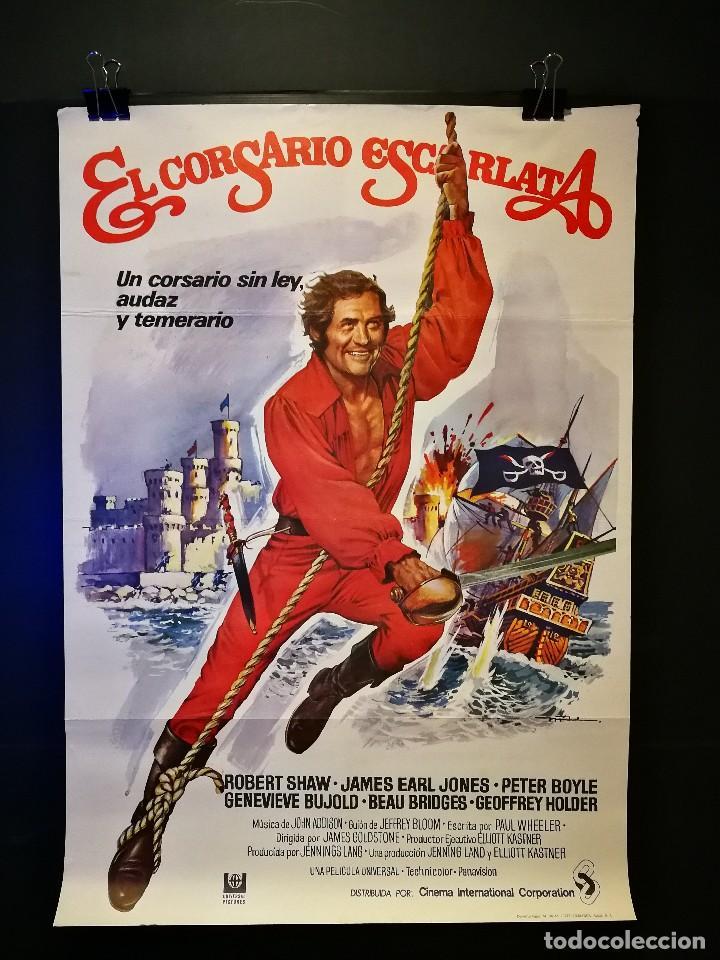 ORIGINAL POSTER CARTEL DE CINE EL CORSARIO ESCARLATA 70 X 100 (Cine - Posters y Carteles - Aventura)