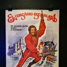 Cine: ORIGINAL POSTER CARTEL DE CINE EL CORSARIO ESCARLATA 70 X 100. Lote 119068191