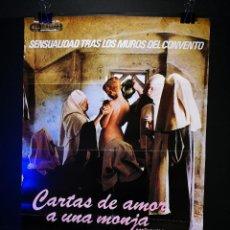Cine: ORIGINAL POSTER CARTEL DE CINE CARTAS DE AMOR A UNA MONJA PORTUGUESA 70 X 100. Lote 119075735