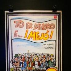 Cine: ORIGINAL POSTER CARTEL DE CINE TO ER MUNDO E... ¡MEJO! 70 X 100. Lote 119076671