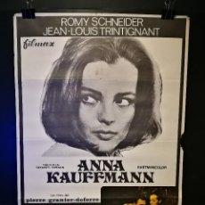 Cine: ORIGINAL POSTER CARTEL DE CINE ANNA KAUFFMANN 70 X 100. Lote 119082543