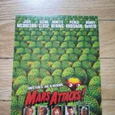 Cine: POSTAL PAPEL MARS ATTACKS! - TIM BURTON - 15X10CM. Lote 119128323