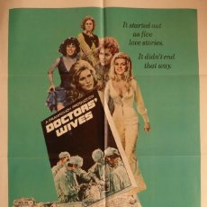 Cine: DOCTORS´WIVES MOVIE POSTER,ORIGINAL, COLUMBIA PICTURES,1971,ONE SHEET.. Lote 119337399