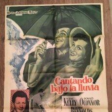Cine: CARTEL DE CINE DE LA PELÍCULA CANTANDO BAJO LA LLUVIA. Lote 125201046