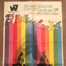 Cine: CARTEL DE CINE DEL ESTRENO DE LA PELÍCULA EL VALLE DEL ARCO IRIS (1968). Lote 119390332