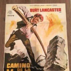 Cine: CARTEL DE CINE DEL ESTRENO DE LA PELÍCULA CAMINO DE LA VENGANZA DE BURT LANCASTER (1968). Lote 119390580