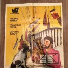 Cine: CARTEL DE CINE DEL ESTRENO DE LA PELÍCULA EL ARTE DE VIVIR... PERO BIEN (1968). Lote 119390904