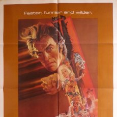Cine: ANY WICH WAY YOU CAN MOVIE POSTER, ORIGINAL,ONE SHEET,1980,CLINT EASTWOOD.. Lote 119450035