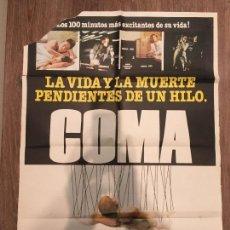 Cine: CARTEL DE CINE DEL ESTRENO DE LA PELÍCULA COMA (1978)(MICHAEL CRICHTON, M. DOUGLAS,GENEVIÈVE BUJOLD). Lote 119465499