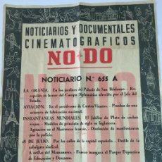 Cine: NO DO. NOTICIARIOS Y DOCUMENTALES CINEMATOGRÁFICOS. NOTICIARIO 655 A. AÑO 1955. 48X38 CM. . Lote 119475543
