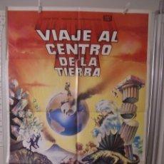 Cine: CARTEL CINE ORIG VIAJE AL CENTRO DE LA TIERRA (1959) 70X100 / JAMES MASON / PAT BOONE / MATAIX. Lote 194728542