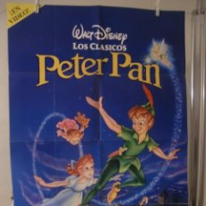 Cine: CARTEL CINE ORIG PETER PAN (1953) 70X100 / WALT DISNEY / POSTER EDICION DE VIDEO. Lote 119480579