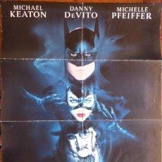 Cine: BATMAN RETURNS MOVIE POSTER,DOUBLE SIDE,1 SHEET,ORIGINAL,1992,WARNER BROS.. Lote 119490199