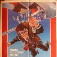 Cine: THE PURSUIT OF D.B. COOPER MOVIE POSTER,ORIGINAL, 1 SHEET, 1981.. Lote 119490875