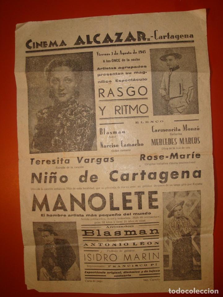 CARTAGENA CINEMA ALCAZAR (Cine - Posters y Carteles - Musicales)