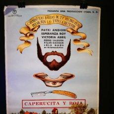 Cine: ORIGINAL POSTER CARTEL DE CINE ALTERNATIVO CAPERUCITA Y ROJA MUY RARO 70 X 100 (1977). Lote 119855219