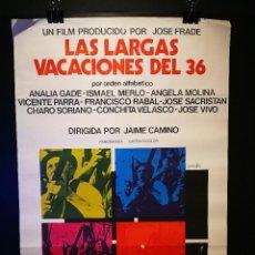 Cinéma: ORIGINAL POSTER CARTEL DE CINE LAS LARGAS VACACIONES DEL 36 70 X 100. Lote 119856511