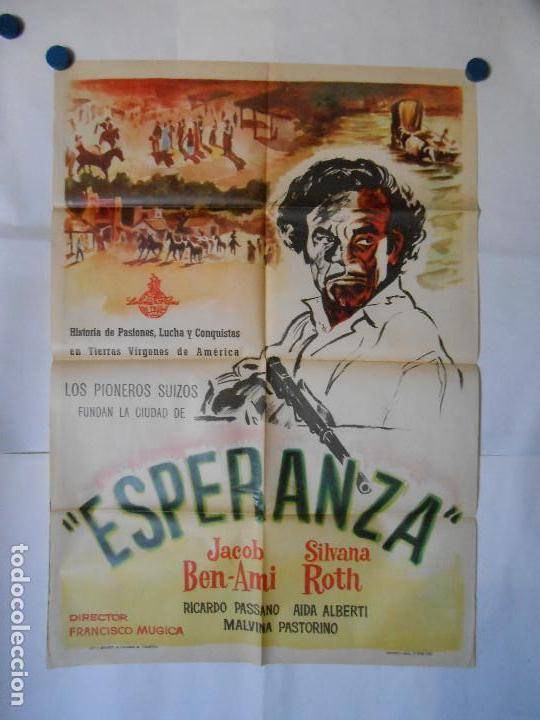 ESPERANZA - CARTEL ORIGINAL 70 X 100 (Cine - Posters y Carteles - Westerns)