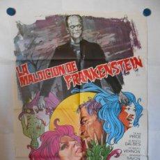 Cine: LA MALDICION DE FRANKENSTEIN - JANO - CARTEL ORIGINAL 70 X 100. Lote 119866351