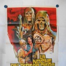 Cine: LA NOCHE DEL TERROR CIEGO - JANO - CARTEL ORIGINAL 70 X 100. Lote 119866595