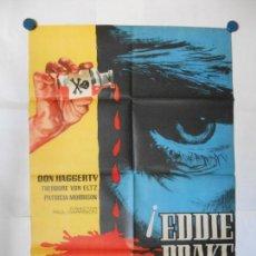 Cine: EDDIE DRAKE - 1961 - JANO - CARTEL ORIGINAL 70 X 100. Lote 119867627