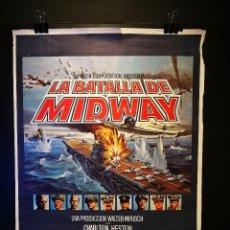 Cine: ORIGINAL POSTER CARTEL DE CINE LA BATALLA DE MIDWAY 70 X 100. Lote 119934939