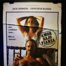 Cine: ORIGINAL POSTER CARTEL DE CINE AMOR BAJO FIANZA 70 X 100. Lote 119951727