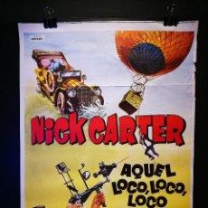 Cine: ORIGINAL POSTER CARTEL DE CINE AQUEL LOCO LOCO LOCO DETECTIVE 70 X 100. Lote 119956107
