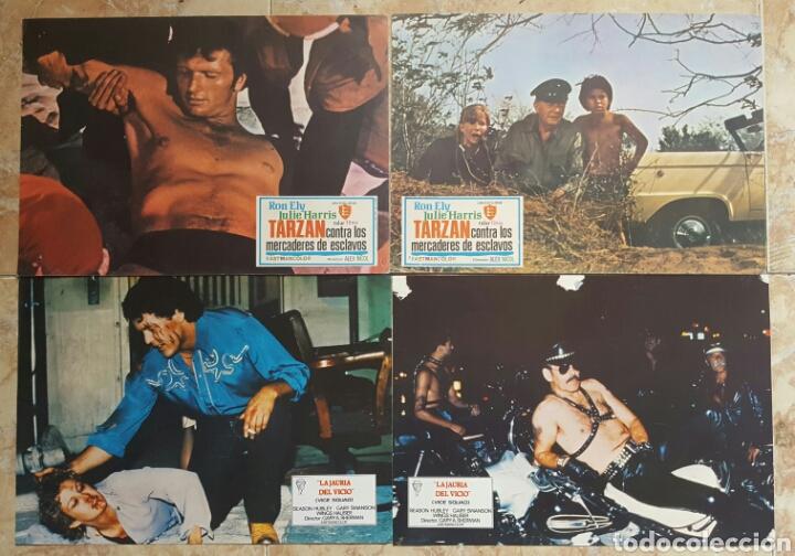 Cine: LOTE DE 54 FOTOCROMOS LOBBY CARDS CINE TERROR CIENCIA-FICCIÓN GIALLO KINKI DROGAS EROTICO - Foto 3 - 120032532