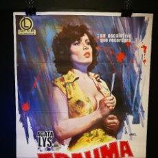 Cine: ORIGINAL POSTER CARTEL DE CINE TRAUMA 70 X 100. Lote 120192635