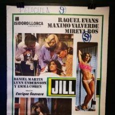 Cine: ORIGINAL POSTER CARTEL DE CINE JILL 70 X 100. Lote 120279939