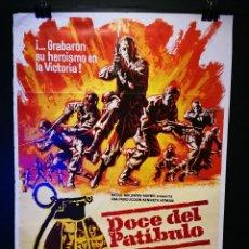 Cinema: ORIGINAL POSTER CARTEL DE CINE DOCE DEL PATIBULO 70 X 100. Lote 120289183