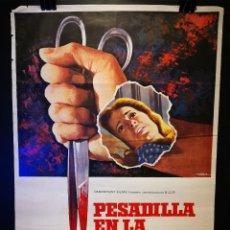 Cine: ORIGINAL POSTER CARTEL DE CINE PESADILLA EN LA NIEVE 70 X 100. Lote 120299723