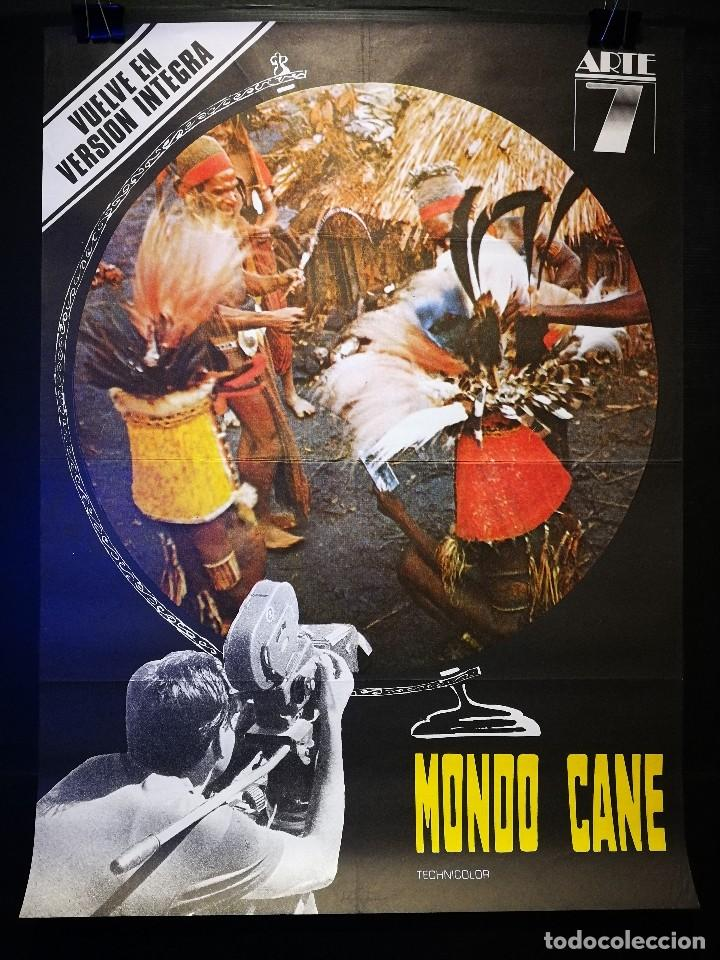 ORIGINAL POSTER CARTEL DE CINE MONDO CANE 70 X 100 (Cine - Posters y Carteles - Documentales)